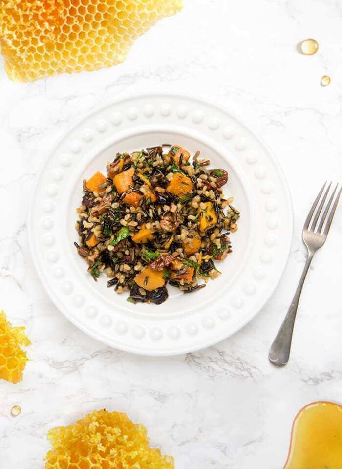 Wild Rice Salad With Manuka Honey Dressing-Healthy 5
