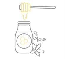 Healthy 5 Honey bottle